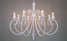 Giglio 8 Light Wrought Iron Chandelier | ada Wrought Iron Chandeliers, Ceiling Lights, Lighting, Room, Home Decor, Bedroom, Decoration Home, Room Decor, Lights