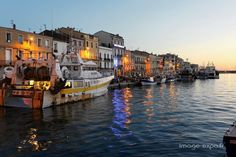 Sète. The little Venice of Languedoc, you can walk along the water, eat seafood at one of the many fish markets in the area, or see the spectacular sunset from the Mont St. Clair.