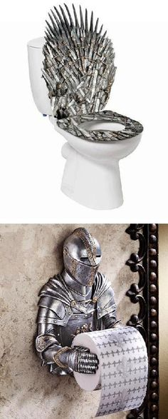 Game of Thrones Bathroom  my boyfriend would LOVE this.