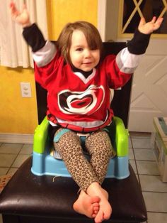 Like her daddy, this little Caniac is showing us her #Canes love all the way from Pittsburgh!