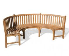 Buy this semi-circle bench for quality, value and style. We have a wide range of curved teak benches and outdoor seating online - shop now. Teak Garden Bench, Outdoor Garden Bench, Wooden Garden Benches, Curved Outdoor Benches, Outdoor Seating, Outdoor Decor, Outdoor Ideas, Teak Furniture, Garden Furniture
