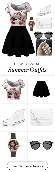 """""""Casual outfit"""" by domeromero on Polyvore featuring Converse, Tory Burch, Yves Saint Laurent, Olivia Burton, women's clothing, women, female, woman, misses and juniors"""