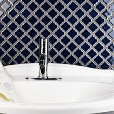 Merola Tile Hudson Tangier Noir 12-3/8 in. x 12-1/2 in. x 5 mm Porcelain Mosaic…