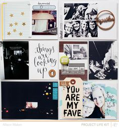 Project Life Spread 6 by AllisonWaken using @Liz Tamanaha and Paislee Press