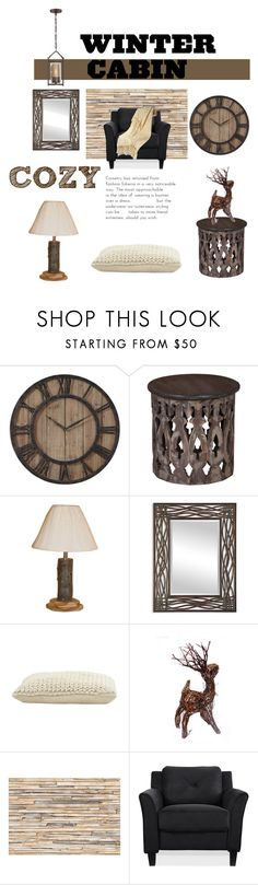 """Cozy Winter Cabin"" by aharcaki ❤ liked on Polyvore featuring interior, interiors, interior design, home, home decor, interior decorating, DutchCrafters, Uttermost, Jayson Home and Brewster Home Fashions"