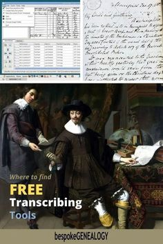 Where to Find Free Transcribing Tools. The hardest part of genealogy research can be transcribing old documents. Here are some free tools and training that can help with this. Free Genealogy Sites, Genealogy Research, Family Genealogy, Free Tutorials, Online Tutorials, Genealogy Organization, Family Organizer, Family History