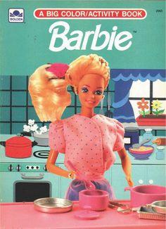 VINTAGE 1991 BARBIE BIG COLOR/ACTIVITY BOOK BY GOLDEN