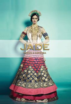 The Gompas of Ladakh.. Our Enchanting Lehenga Ensemble! Aren't you in Love already?! #JADEbyMK #Bridal #India #Wedding