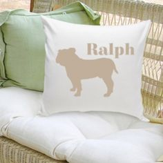 Classic Silhouette Personalized Dog Throw Pillow- Our Man's Best Friend silhouette personalized throw pillow is a perfect gift for dog lovers. Customize the image for that extra personal touch! Our throw pillows come with a cotton zip-off cov Gifts For Pet Lovers, Pet Gifts, Dog Lovers, Dog Throw, Dog Silhouette, Christmas Animals, Animal Pillows, Dog Design, Mans Best Friend