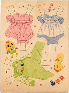 Baby Pat first page outfits