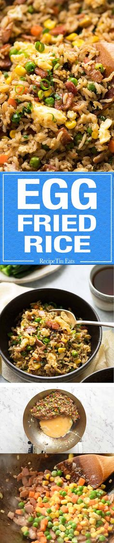 Use Cali rice. A super quick Egg Fried Rice made with frozen veggies and egg. It all comes down to the Sauce! Rice Recipes, Asian Recipes, Chicken Recipes, Dinner Recipes, Cooking Recipes, Recipies, Chinese Recipes, Rice Dishes, Food Dishes