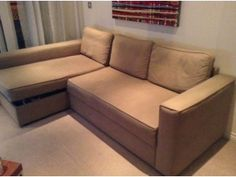 Ikea Manstad Beige Sofa Bed For £150 It Is Comfortable And Spacious As Both  A