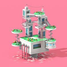 Low Poly Island 3 on Behance