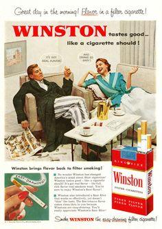 Winston cigarettes ads - Vintage Cigarettes Posters