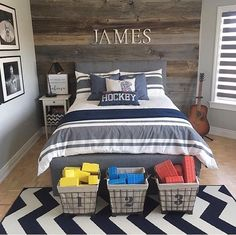 38 Cool Teenage Boy Room Decor - Make your teenagers happy with the look of their bedrooms - allow them to decorate it themselves. Give your kids a sense of autonomy and watch them ta. Teenage Bedroom Decorations, Boys Bedroom Decor, Teen Bedroom, Kids Decor, Bedroom Red, Teen Boys Room Decor, Boy Sports Bedroom, Kids Bedroom Boys, Boy Bedroom Designs