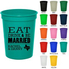 16 Oz Personalized Stadium Cups Clipart Names In Heart Wedding Custom Plastic Party