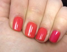 Gelish Swatches ONLY! - Page 31 - PurseForum  3 coats Tiger Blossom, 1 coat Gossip Girl