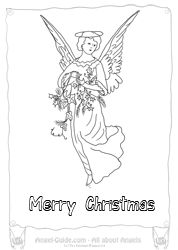 Angel Coloring Page Winter Collection