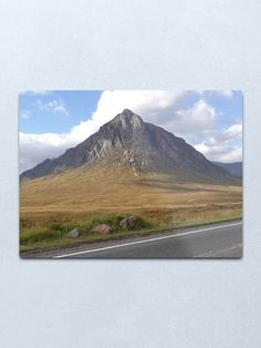 """""""Buachaille Etive Mor Metal Print by goldyart Round Corner, Cleaning Wipes, Print Design, David, It Is Finished, Wall Art, Metal, Artist, Artwork"""