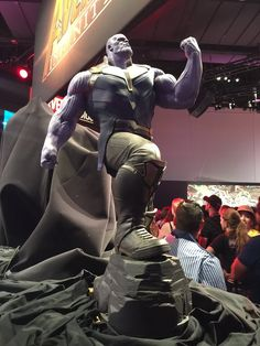 So, I was walking the floor of the D23 Expo when I came across this epic  statue of Thanos from Avengers: Infinity War! This is our best look yet at  what Josh Brolin will look like in the film so I had to share it with you!  He certainly looks like a badass villain and knowing that Brolin is pla