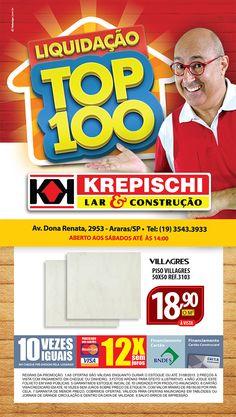 """Krepischi: Campanha """"Liquidação Top 100"""""""