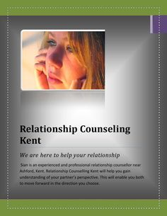 Relationship Counselling save my marriage Life  If your couple relationship is not going on happily and you want to remove your problems related to their relations then Relationship Counselling Kent is here to solve the problem. We give you advice related to marriage, 'Stuck' relationships, Infidelity and affairs and more.  For more info visit us http://www.relationshipcounsellingkent.co.uk/