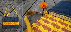 Sew your own laptop bag with this great tutorial by Made by Petchy. I love the strip of car fabric on the front and the yellow zig zag stitching.