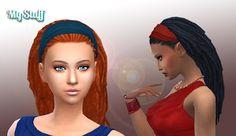Sims 4   Kiara / My Stuff: Dread Head Band Hairstyle #natural hair female adult dread