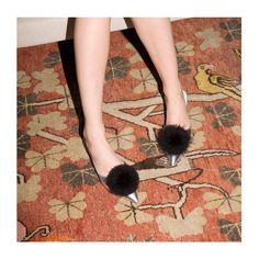 Dress up your slippers. Pauline mule in metallic silver. #fvalentine