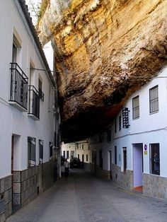 Cadiz, Setenil de las Bodegas, The Amazing Rock Village in Andalusia, Spain Places Around The World, Oh The Places You'll Go, Places To Travel, Places To Visit, Around The Worlds, Wonderful Places, Beautiful Places, Amazing Things, Spain And Portugal