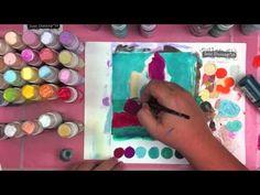 Tim Holtz Dabbers - Art Journal - Jane Davenport  - Mermaid Set