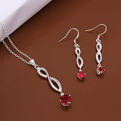 925 Silver Store 925 silver jewelry set necklace earrings S576 handmade silver jewelry * Check out this great product.