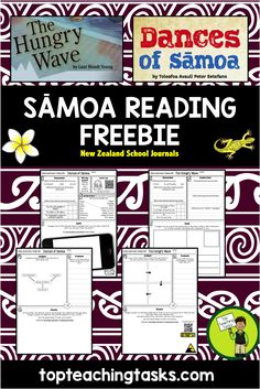 This FREE reading resource includes engaging reading comprehension activities to use with the following NZ School Journal texts:  School Journal Level 2, October 2012 - Dances of Sāmoa School Journal Level 3, February 2012 - The Hungry Wave  This would be perfect to use during Samoan Language Week - May 28 to June 3, 2017.   Each text has two pages of higher order thinking tasks to complete - perfect for reading comprehension!