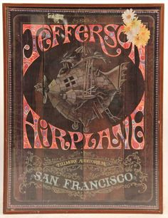 Jefferson Airplane, Fillmore Auditorium Concert Poster, 1967