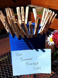 Make an ACTUAL Summer Bucket List with your kids #SummerFun #Activities summer bucket lists, kid activ, kid stuff, summerfun, kid craft, kid kid