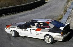 RALLYE MONTE CARLO 1982 2º Hannu Mikkola - AUDI QUATTRO