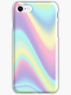 Holographic Pastel Metallic design in soft pink, purple, yellow, blue, green tones. • Also buy this artwork on phone cases.