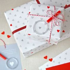 Mini Love Messages Wrapping Paper Set - gift wrap sets