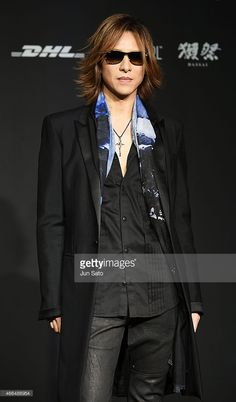 Musician Yoshiki attends the opening reception for the Mercedes Benz Fashion Week TOKYO 2015 A/W at Mercedes-Benz Connection on March 16, 2015 in Tokyo, Japan.