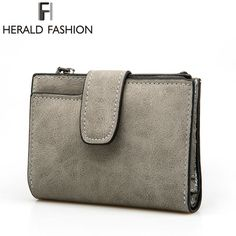 Herald Fashion Lady Letter Zipper Short Clutch Wallet Solid Vintage Matte Women Wallet Fashion Small Female Purse Short Purse