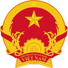 Brasão de armas do Vietnã. Coat of arms of Vietnam.