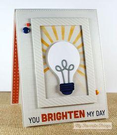 card technique light bulb MFT light bulb Die-namics #mftstamps