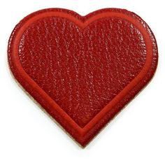 Anya Hindmarch Leather Heart Sticker (1.017.685 IDR) ❤ liked on Polyvore featuring home, home decor, office accessories, apparel & accessories, red, heart shaped stickers, leather sticker, heart stickers, anya hindmarch and anya hindmarch stickers