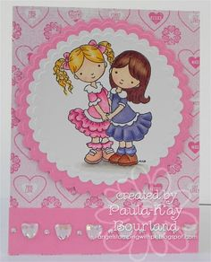 Card by Paula. Rubber Stamp from Whimsy and Stars Studio, rubber stamps and digital stamps.