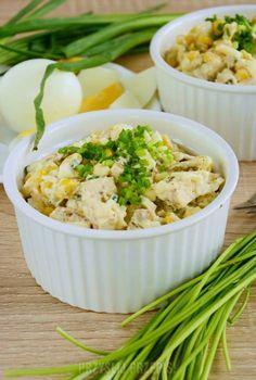 Sałatka chrzanowa z kurczakiem, jajkiem, kukurydzą, ogórkami Mashed Potatoes, Food And Drink, Ethnic Recipes, Kitchen, Salads, Whipped Potatoes, Cuisine, Mashed Potato Resep, Home Kitchens
