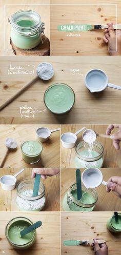 3 recetas fáciles y económicas para conseguir una pintura estilo chalk paint para tus proyectos DIY ¡Descúbrelo en nuestro blog!