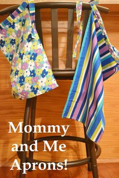 Mommy and Me Aprons Simple Sewing Project