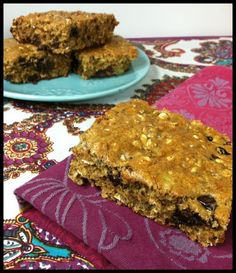 Breakfast Bar Recipe...Will have to try this if I can find chick pea flour