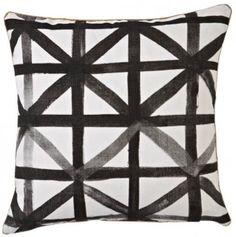 Geometric Black + White Pillow