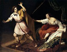 José y la mujer de Putifar by Bartolomé E. Murillo